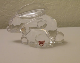 On Sale Orrefors Sweden Crystal Rabbit Figurine Paperweight  Designed by Olle Alberuis.