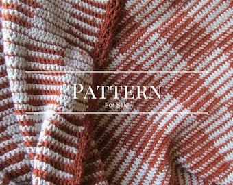 Checkerboard afghan pattern, Easy crochet blanket pattern