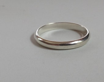 Sterling Silver Ring, Stacking Ring, Band, Wedding Band, Sterling Silver Band