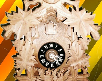 Raw Wood Carvings/Nesting 1-day 1977 Cuckoo clock #1