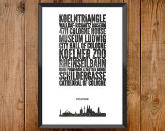 Cologne City Print
