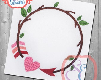 Branch Arrow Circle Design For Machine Embroidery INSTANT Download