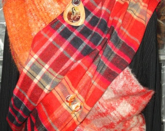 """News of Scotland"" neck warmer scarf customized with my buttons"