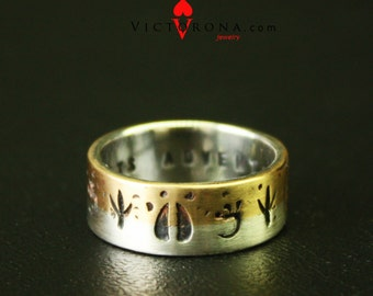 Fishing wedding band Etsy