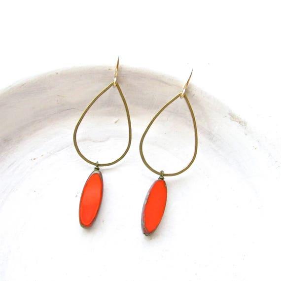 WHOLESALE LISTING // Balance Earrings - Coral // EBC
