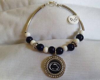 Penn State Tube Bead Bracelet
