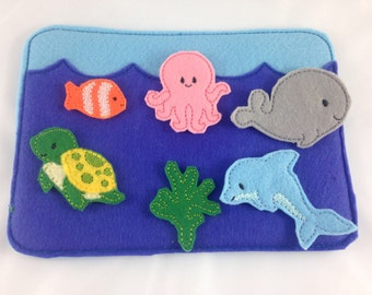 Felt Board, Under The Sea, Ocean Animals, Quiet Board, Quiet Play, Imagination Board
