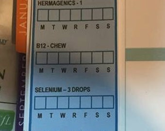 Keep track of all your meds and vitamins