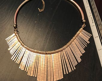 Hand made in Africa copper bib necklace