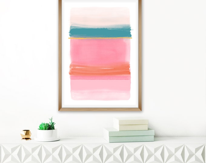 PINK ABSTRACT ART - Inspiration Abstracts