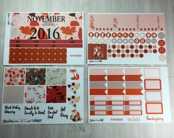 Planner Stickers-November Monthly Sticker Kit