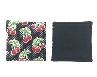 Fruit Fabric Coasters / Fruit Cloth Coasters / Fruit Linen Coasters - 1 each