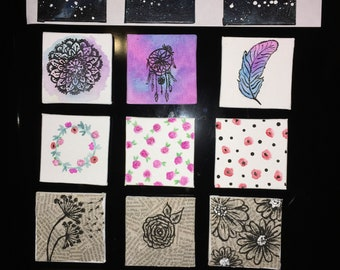Canvas magnets