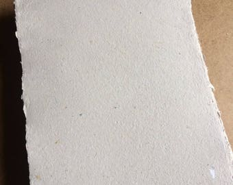 Light grey paper #2, handmade paper, eco friendly paper, recycled paper, textured paper, homemade paper, decorative paper, letterpress paper