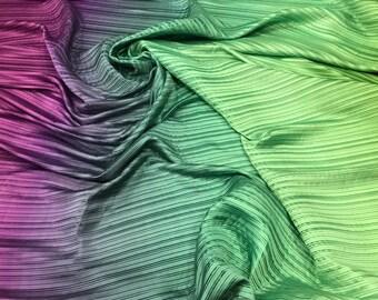 Pleated satin fabric/plisse fabric/gradient fabric.