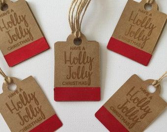 Christmas Gift Tags, Favour Tags, Thank You Tags x12
