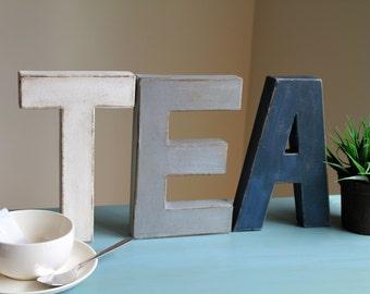 """8"""" TEA Vintage Style Farmhouse Letters"""