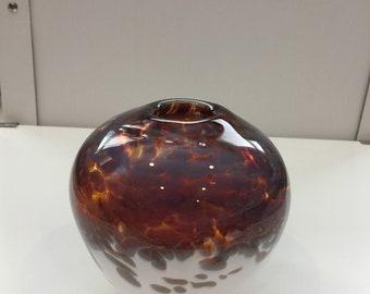 Amber and White Vase