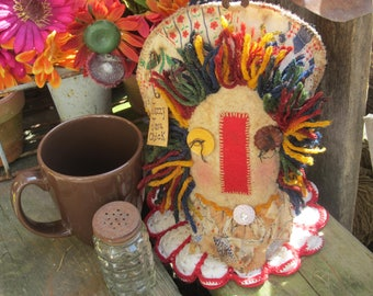 """COFFEE CUP COVER """"Jazzy Java Chick""""~ Coffee Bar~ Cozie Cozy~ Mason Jar Decor~ Easter Gift~ Mother's Day Gift~ Ready to Ship~ Coffee Lover~"""