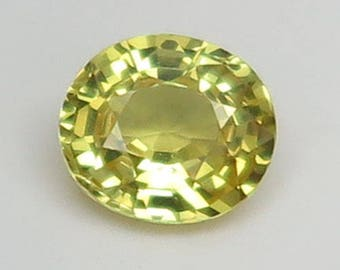 1.65 Ct Lab Created Simulated Sapphire Yellow