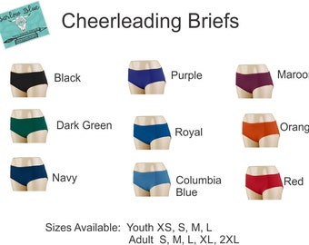 Briefs / Bloomers !  Cheerleading Uniform Accessories.