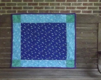 Little Fish Patchwork Baby Quilt
