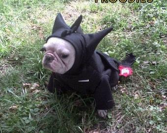 French Bulldog Boston Terrier Pug Dog Froodies Hoodies Halloween Costume Cosplay Toothless Dragon Fleece Jacket Sweatshirt Coat