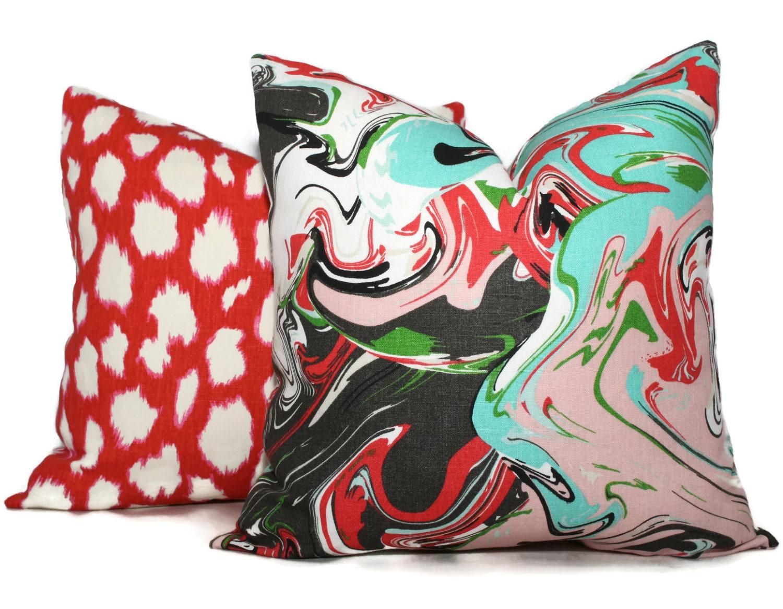 pillow spade decorative new cotton kate products large york rr dot pillows