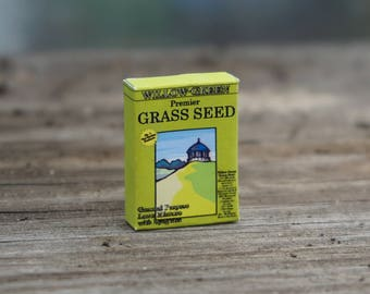Dolls House Miniature Box of Grass Seed