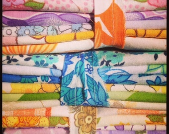 3 Vintage Retro Sheet Fat Quarter (FQ) Packs