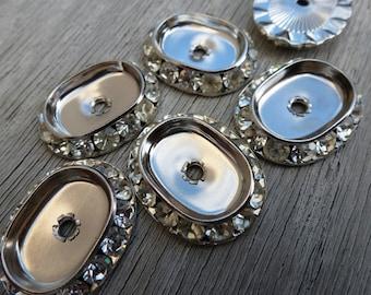 4 Swarovski Crystal Channel Set Setting Jewels C23
