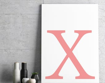 Poster: typolove - Monogram / Letter X no. 1