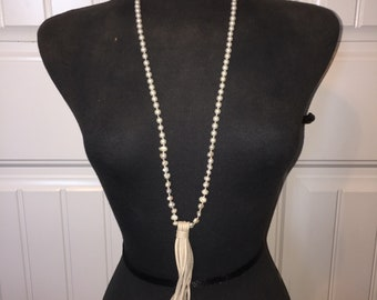Pearl Necklace with Tassel