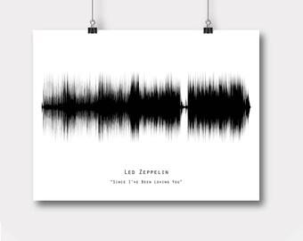 Soundwave printable, Led Zeppelin-Since I've Been Loving You, Sound Wave art, Printable files, Instant Download, Led Zeppelin, Print me