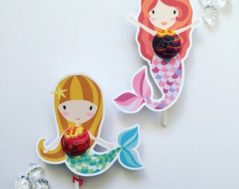 Mermaid lollipop holder