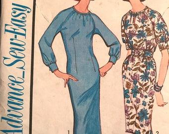 Elegant Dress Pattern---Advance 3405---Size 14  Bust 34  UNCUT