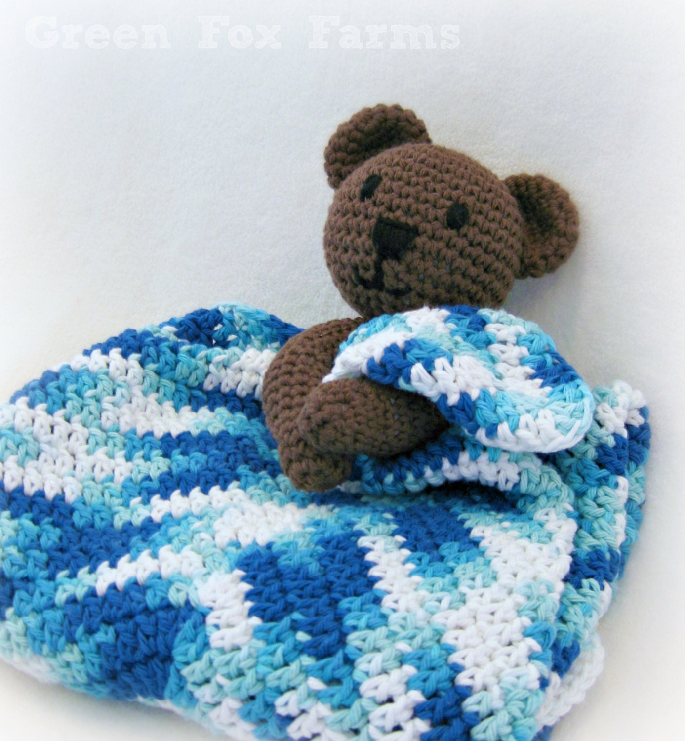 Bear Blanket Lovey Baby Bear Lovey Crochet Baby Lovey Teddy