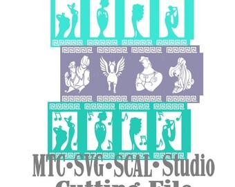 Hercules Bundle lanterne Design 03 coupe Silhouette MTC SCAL fichier Format de fichier SVG