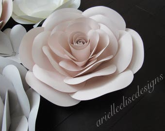 Hard Copy Template 17 Large Paper Flower
