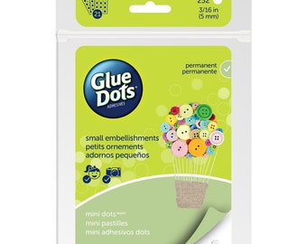 "Glue Dots Clear Dot Sheets 3/16"" or .1875 inches Double Sided Acid Free for Beading Beadweaving Crafts 5mm Pack of 252 pcs"