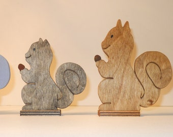 Wooden Squirrel Targets
