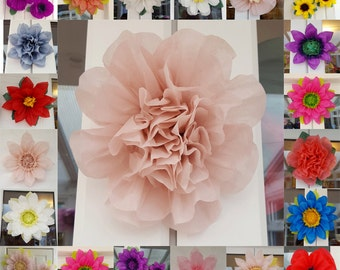 Tissue paper flower 19cm Wedding VenueDecorations Pompom Baby shower Centerpiece