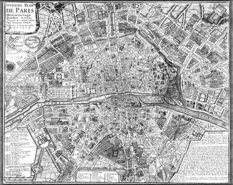 Poster, Many Sizes Available; Map Of Paris France Circa 1705
