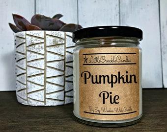 Pumpkin Pie candle, Pumpkin candle, pumpkin soy candle, Pie candle, Fall candle, Pumpkin spice candle
