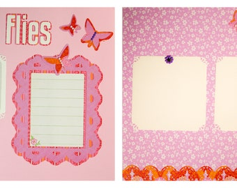 Pre-made Scrapbook Pages: Time Flies