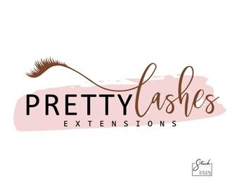 Lash Logo Design - Eyelash Logo - Makeup Artist Logo - Lash Extension Logo - Lash Artist Logo