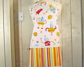 40% off Robots Adult Apron - Reversible Apron, Full Apron, Apron with Pockets