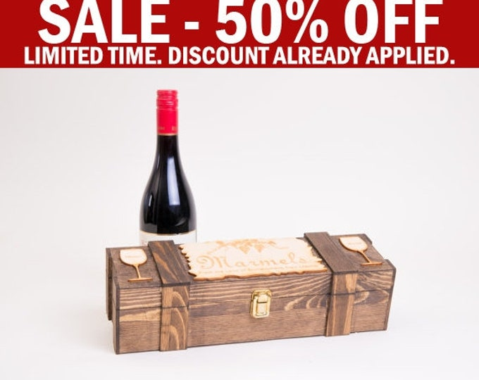 Wine Box Ceremony, Rustic Wedding Wine Box, Nail Ceremony, Wood Wine Box, Engraved Wine Box, Wine Box Anniversary, Wine Unity, Wine Capsule