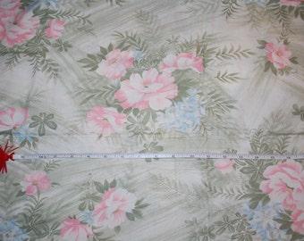 Large flowered print cotton fabric