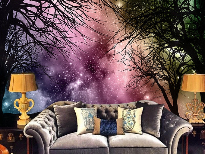 Galaxy Forest Removable Wallpaper Wall Decal Art Bedroom
